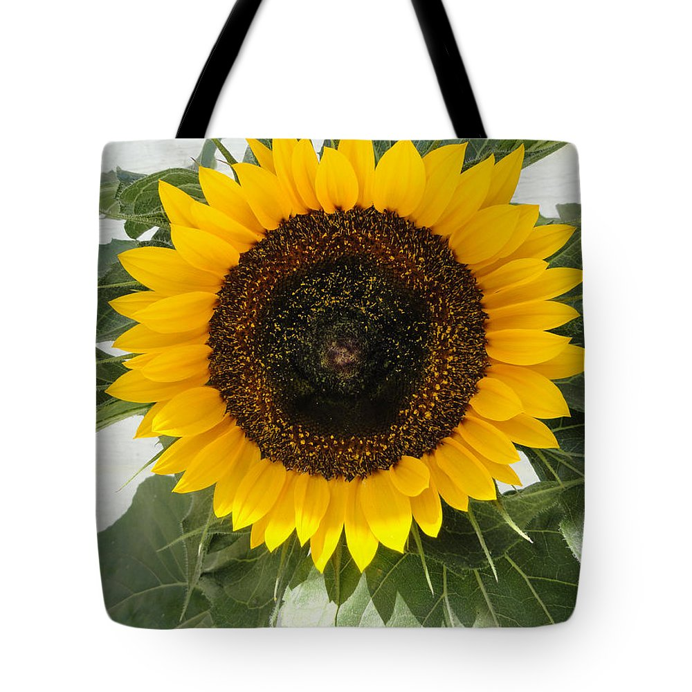 Sunflower Tote Bag featuring the photograph Center by Shannon Grissom