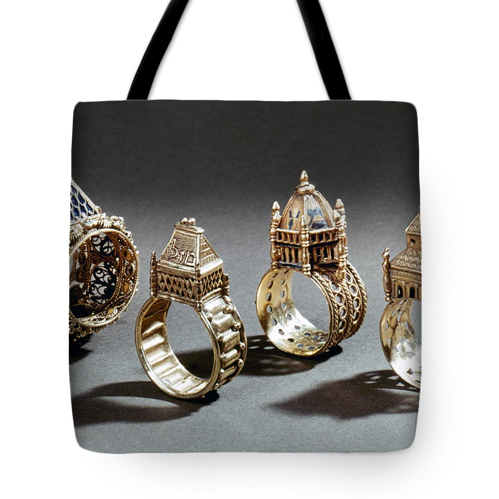 18th Century Tote Bag featuring the photograph Ceremonial Marriage Rings by Granger