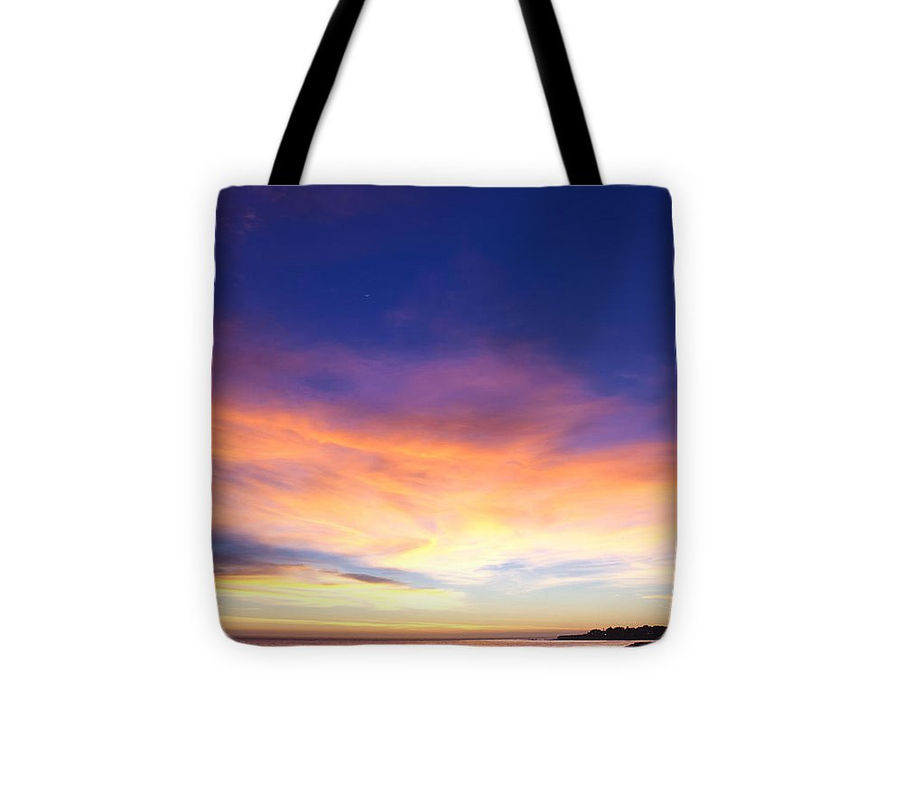 Print Tote Bag featuring the photograph cf 518 A Blue sunset by Chris Berry
