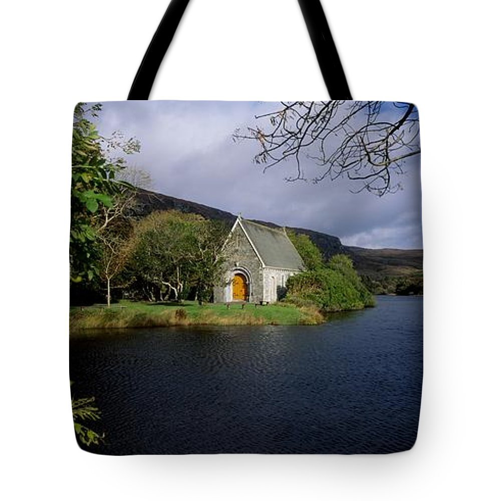 Birds Tote Bag featuring the photograph Chapel At Gougane Barra, Co Cork by The Irish Image Collection