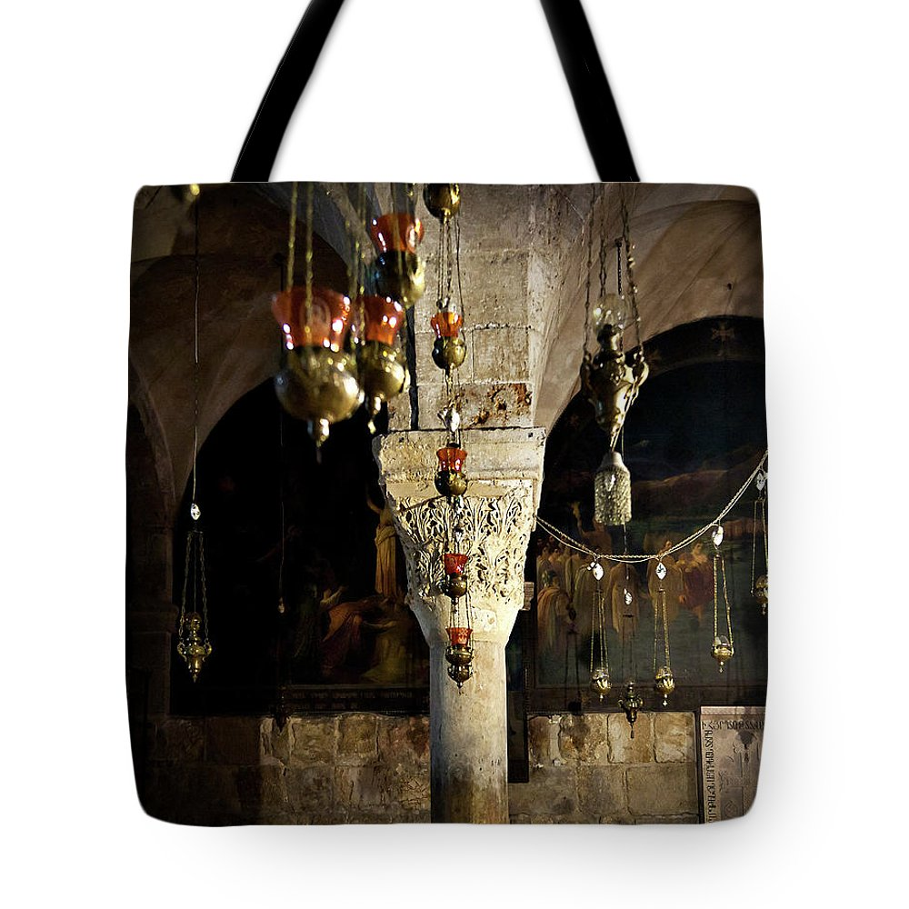 Endre Tote Bag featuring the photograph Chapel View by Endre Balogh