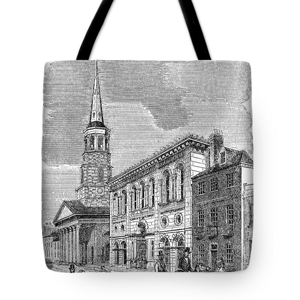 1857 Tote Bag featuring the photograph Charleston, 1857 by Granger