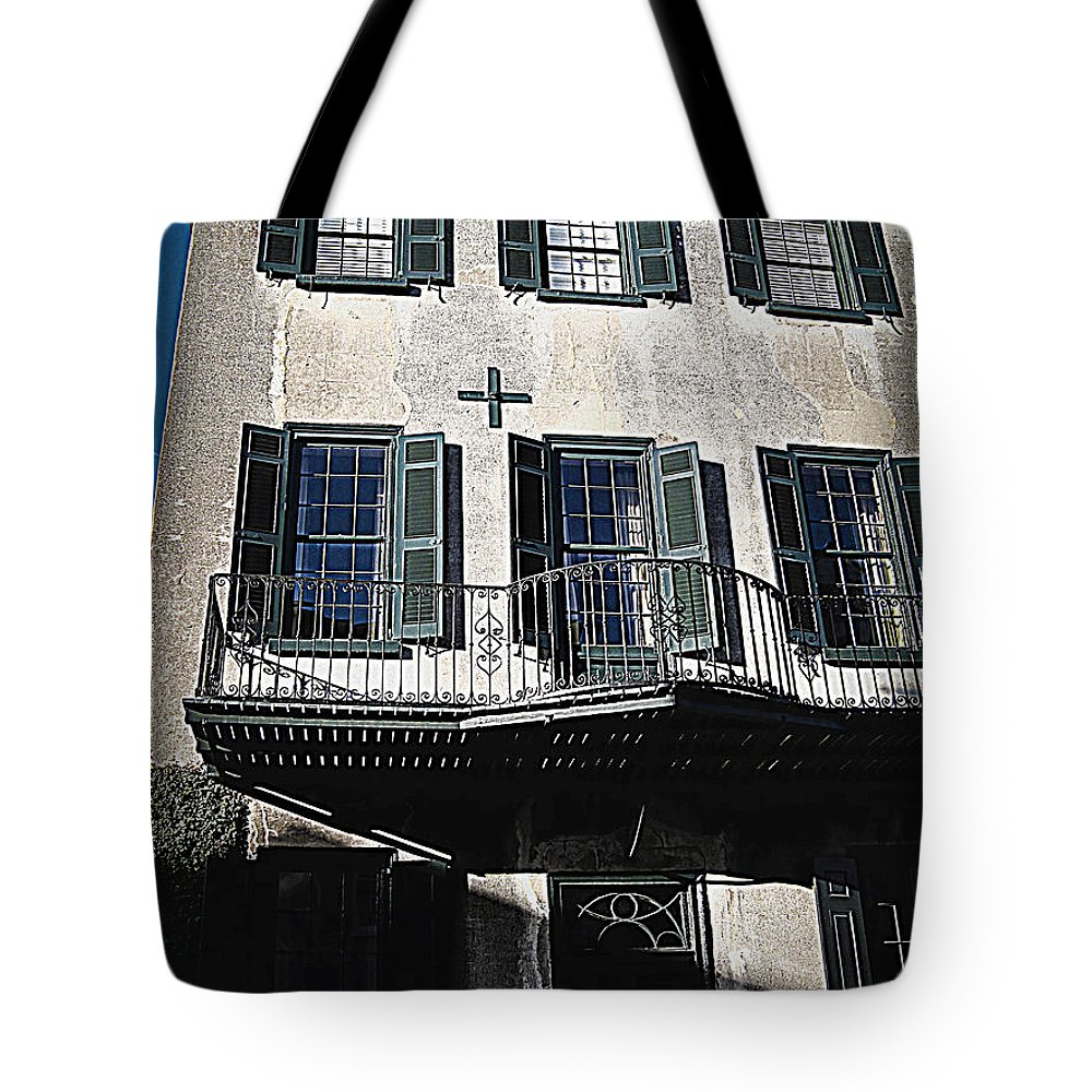 Houses Tote Bag featuring the photograph Charleston Houses by Susanne Van Hulst