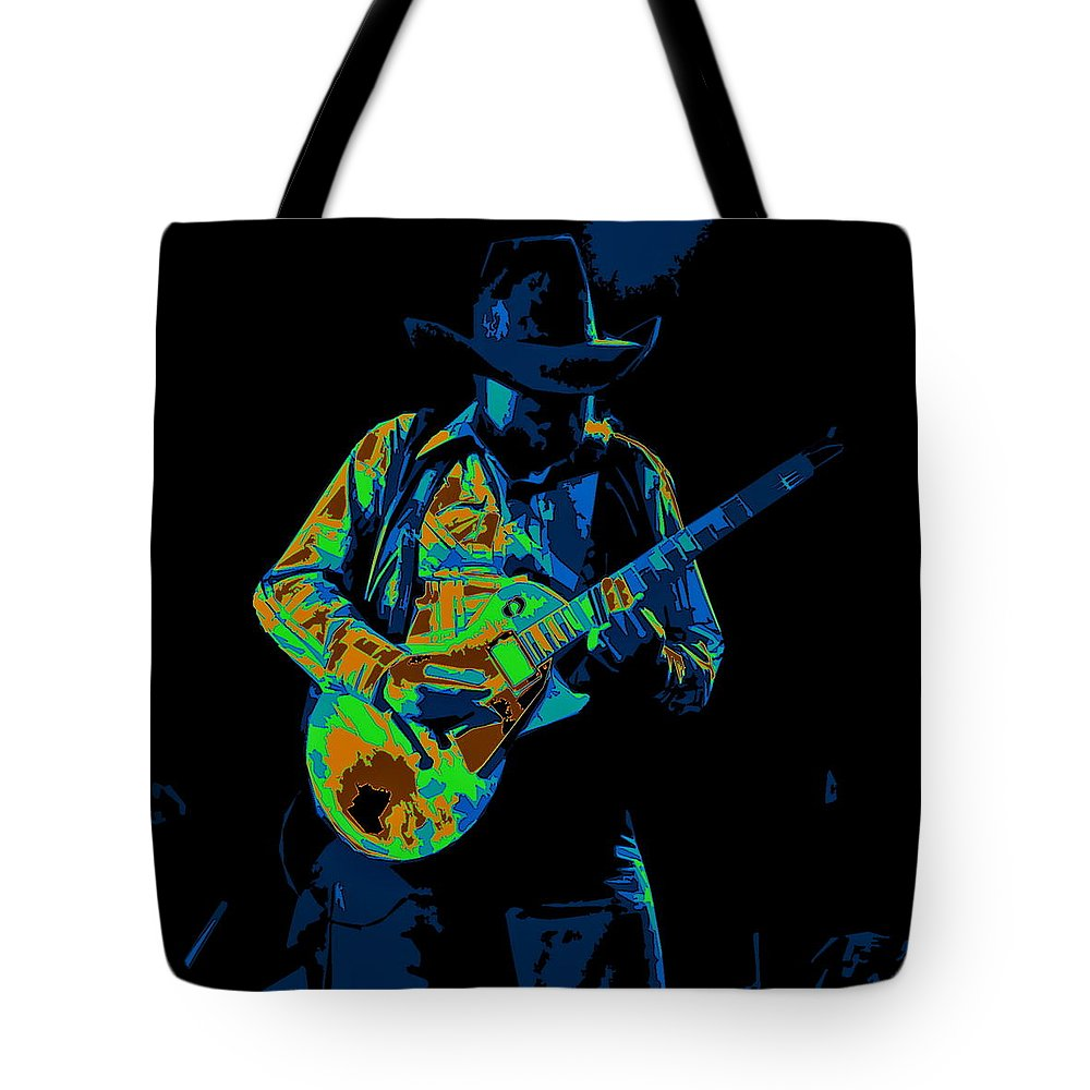 Charlie Daniels Tote Bag featuring the photograph Playing Psychedelic Blues At Winterland In 1975 by Ben Upham