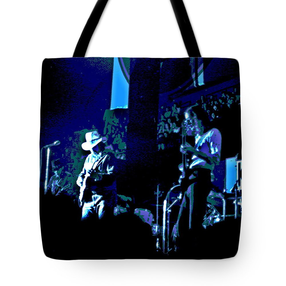 Charlie Daniels Band Tote Bag featuring the photograph Winterland Blues 1975 by Ben Upham