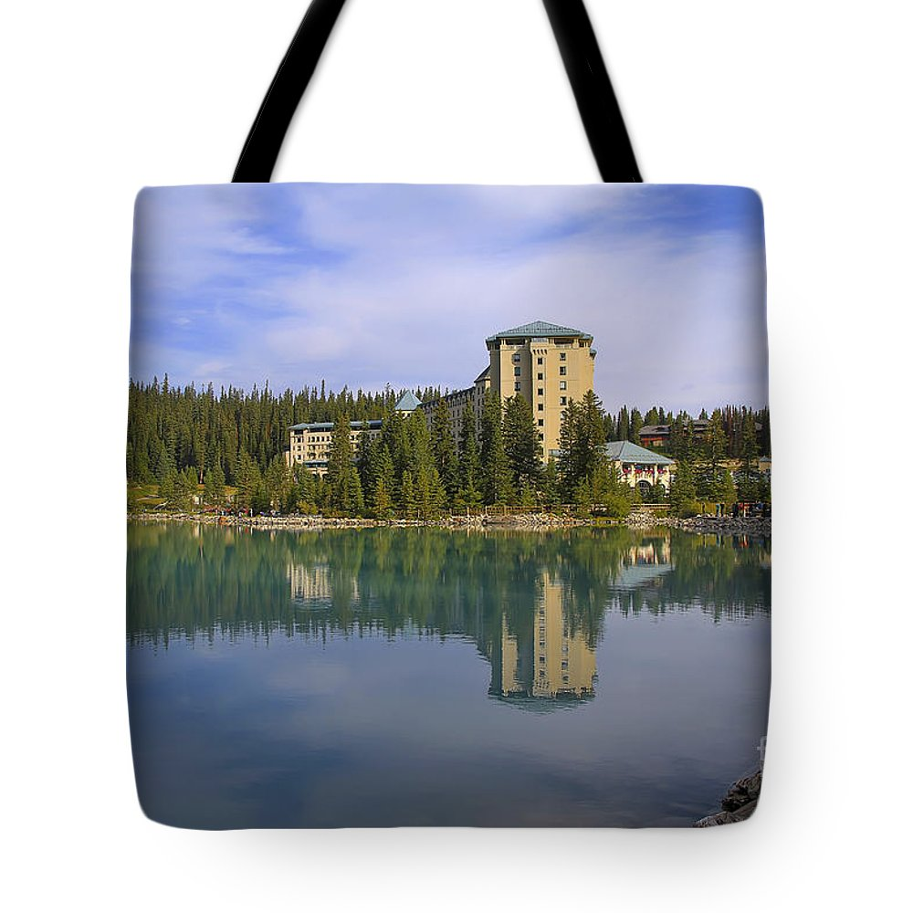 Lake Louise Tote Bag featuring the photograph Chateau Lake Louise by Teresa Zieba