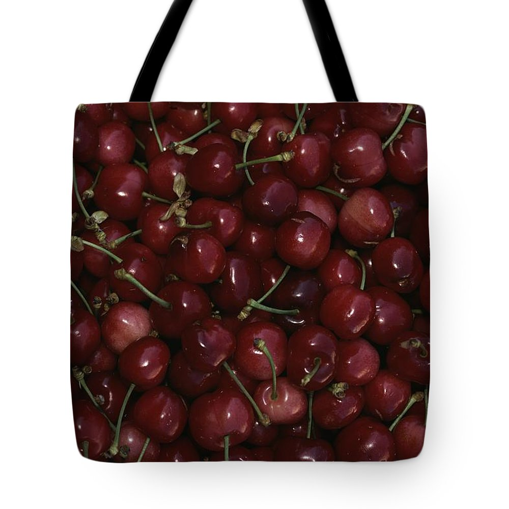 Plants Tote Bag featuring the photograph Cherries by Nicole Duplaix