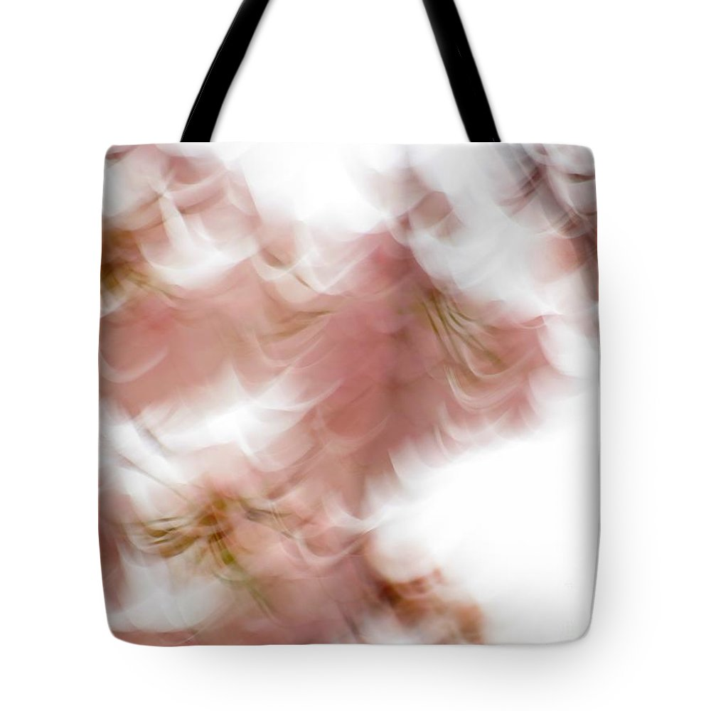 Abstract Tote Bag featuring the photograph Cherry abstract by Rrrose Pix