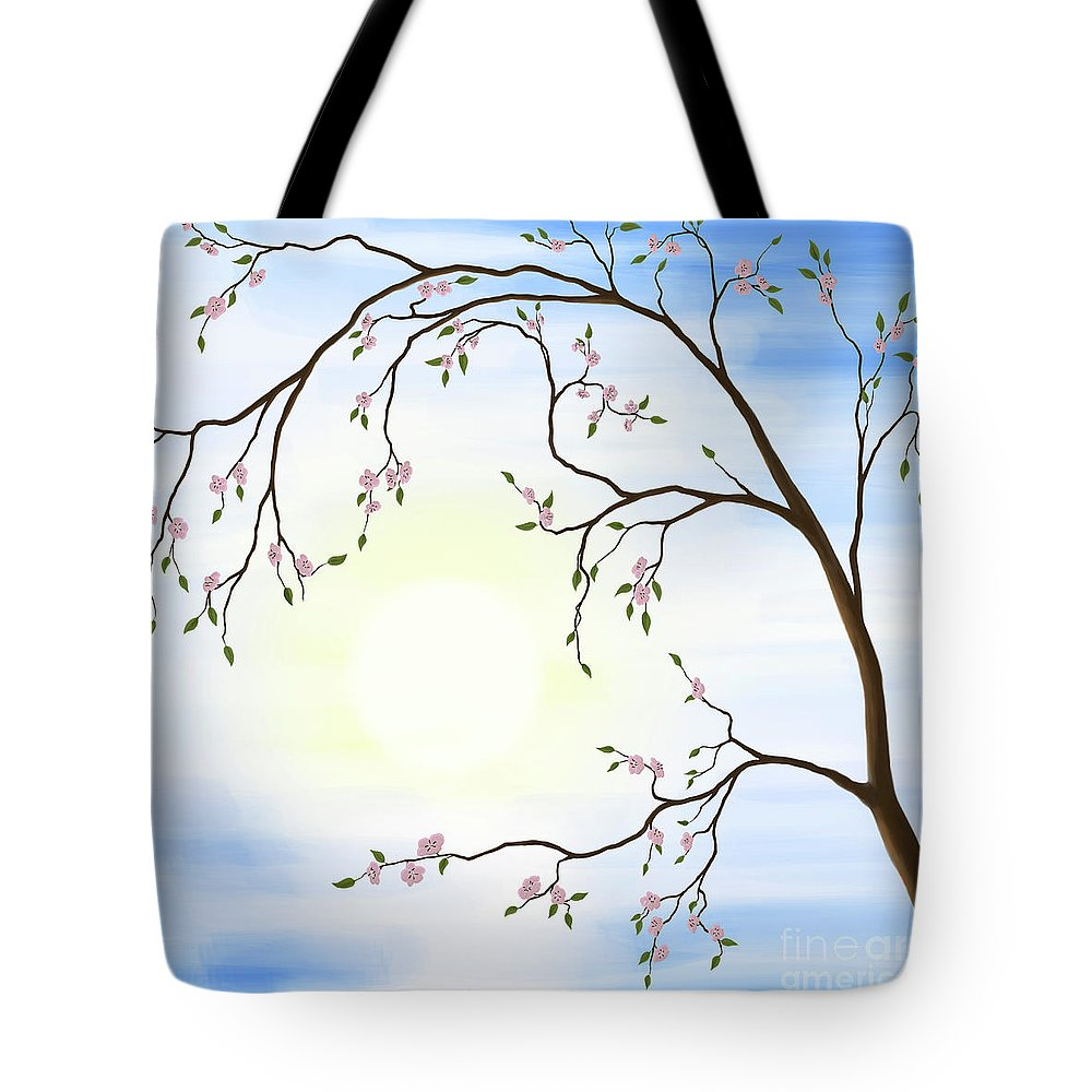 Cherry Blossom Tote Bag featuring the photograph Cherry Blossom by Oleksiy Maksymenko