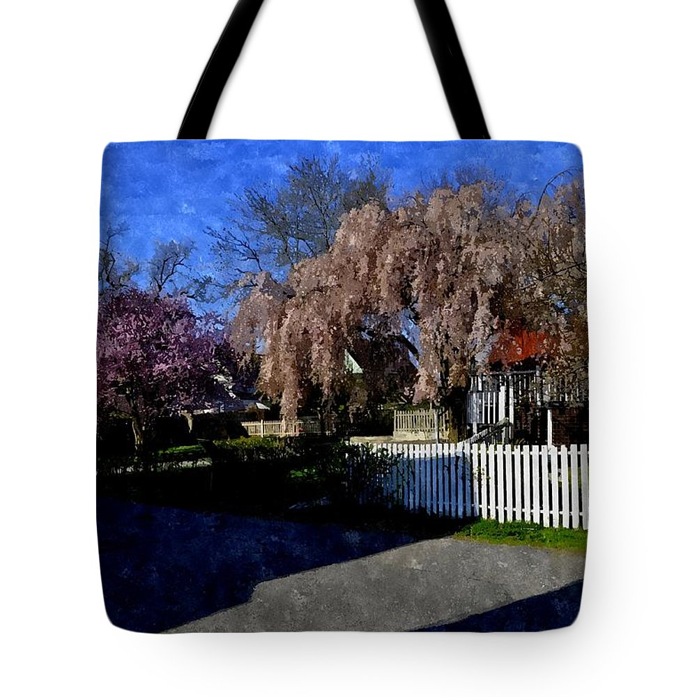 House Tote Bag featuring the digital art Cherry Blossoms Cbwc by Jim Brage