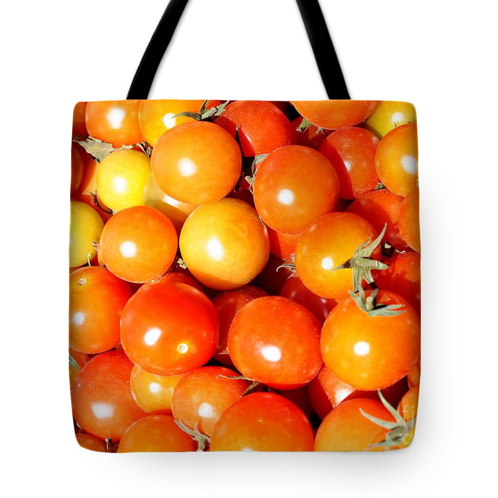 Tomato Tote Bag featuring the photograph Cherry Tomatoes by Carol Groenen