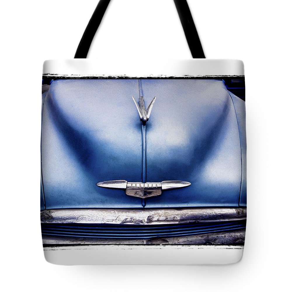 Art Tote Bag featuring the pyrography Chevrolet by Mauro Celotti