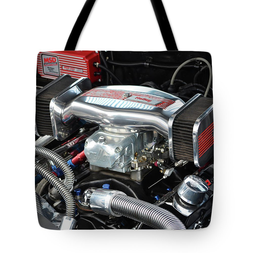 Holley Tote Bag featuring the photograph Chevy Power by Paul Mashburn