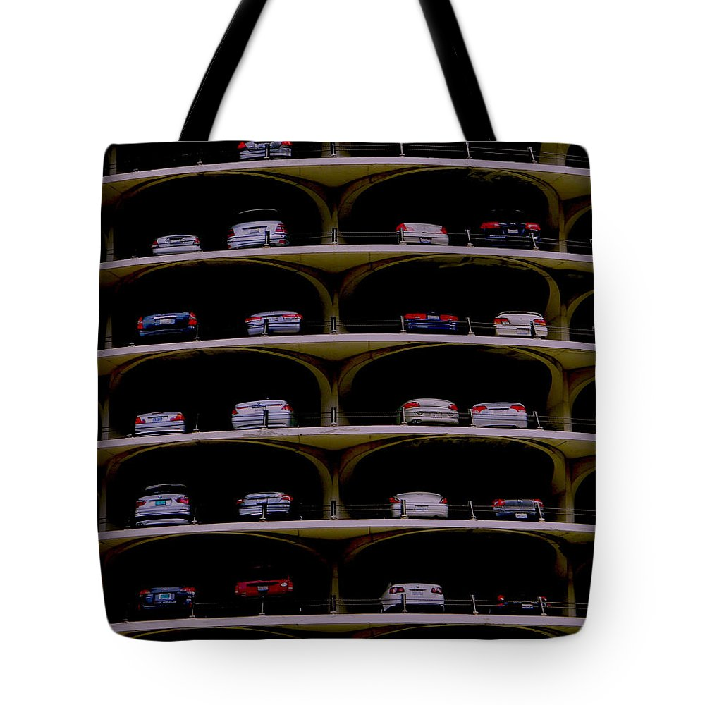 Chicago Tote Bag featuring the photograph Chicago Impressions 3 by Marwan George Khoury