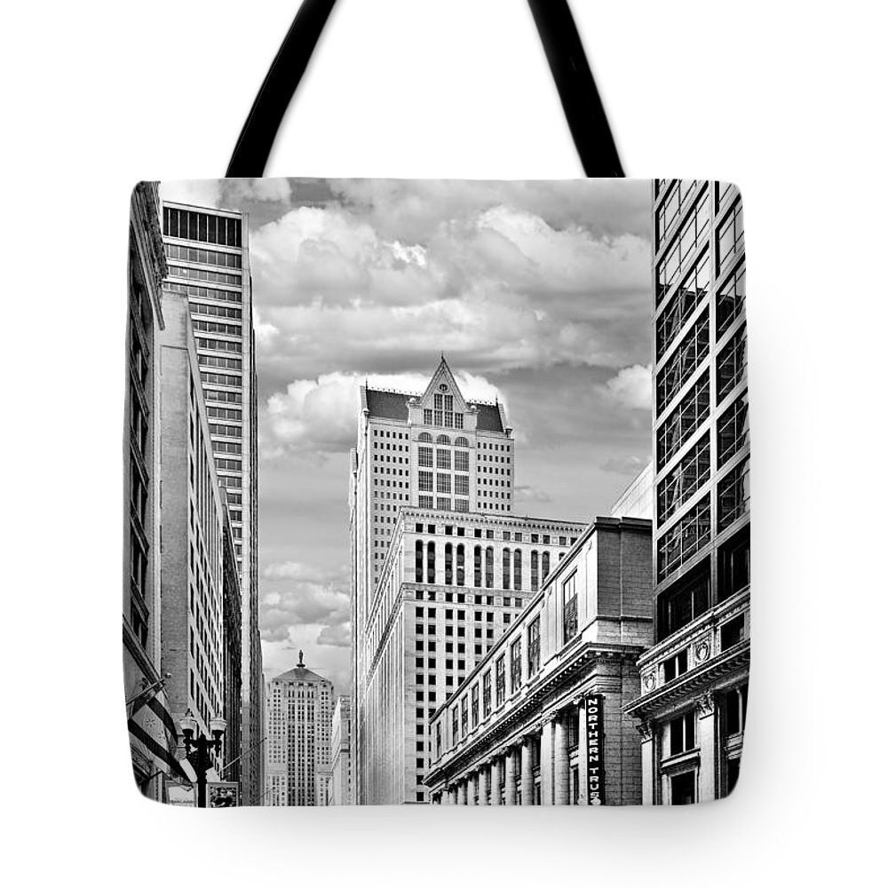 Historic Tote Bag featuring the photograph Chicago Lasalle Street by Christine Till