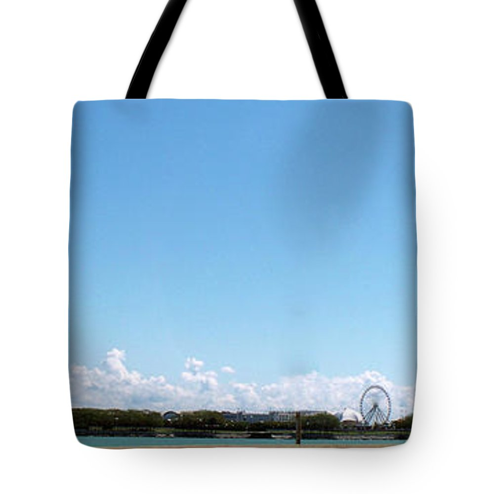 Cities Tote Bag featuring the photograph Chicago Summer Sky by Thomas Woolworth