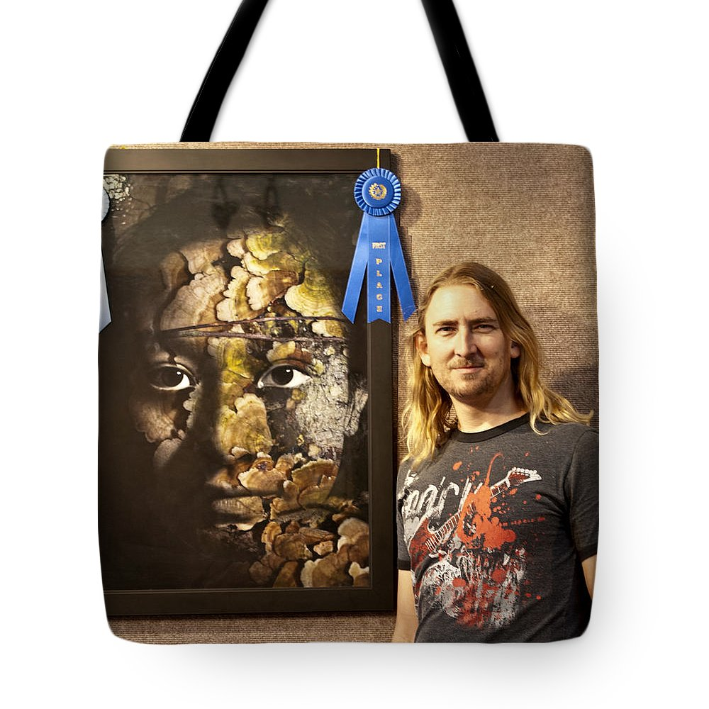 Tote Bag featuring the painting Child Of The Forest - 1st Place. by Christopher Gaston