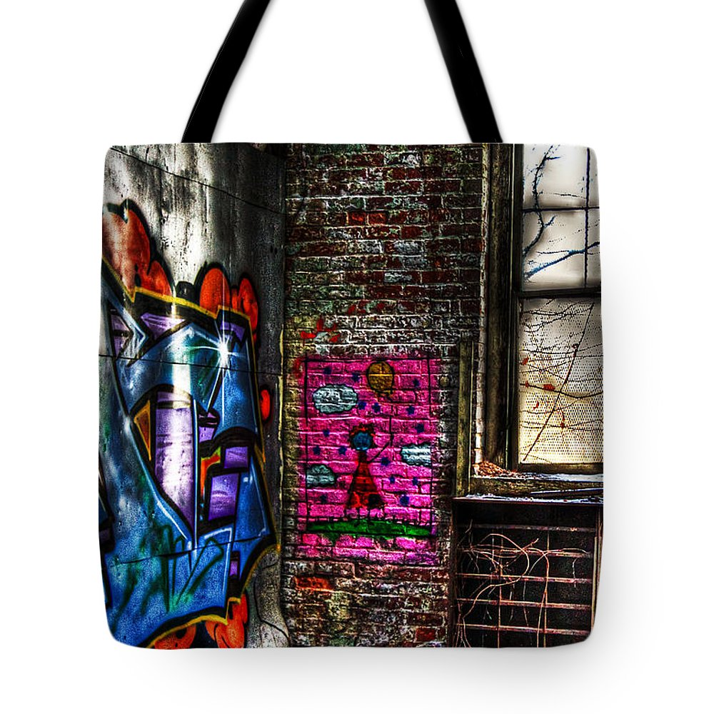 Abondoned Tote Bag featuring the photograph Childlike Pink by Brenda Giasson