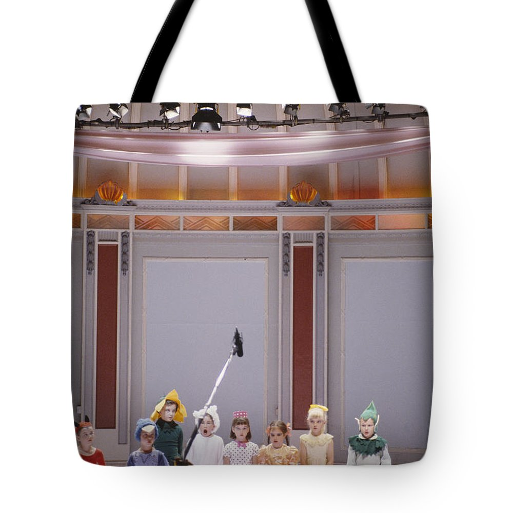 Film Tote Bag featuring the photograph Children On Stage by Shaun Higson