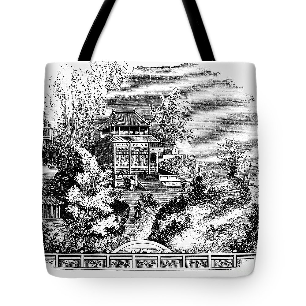 1853 Tote Bag featuring the photograph China: Imperial Palace by Granger