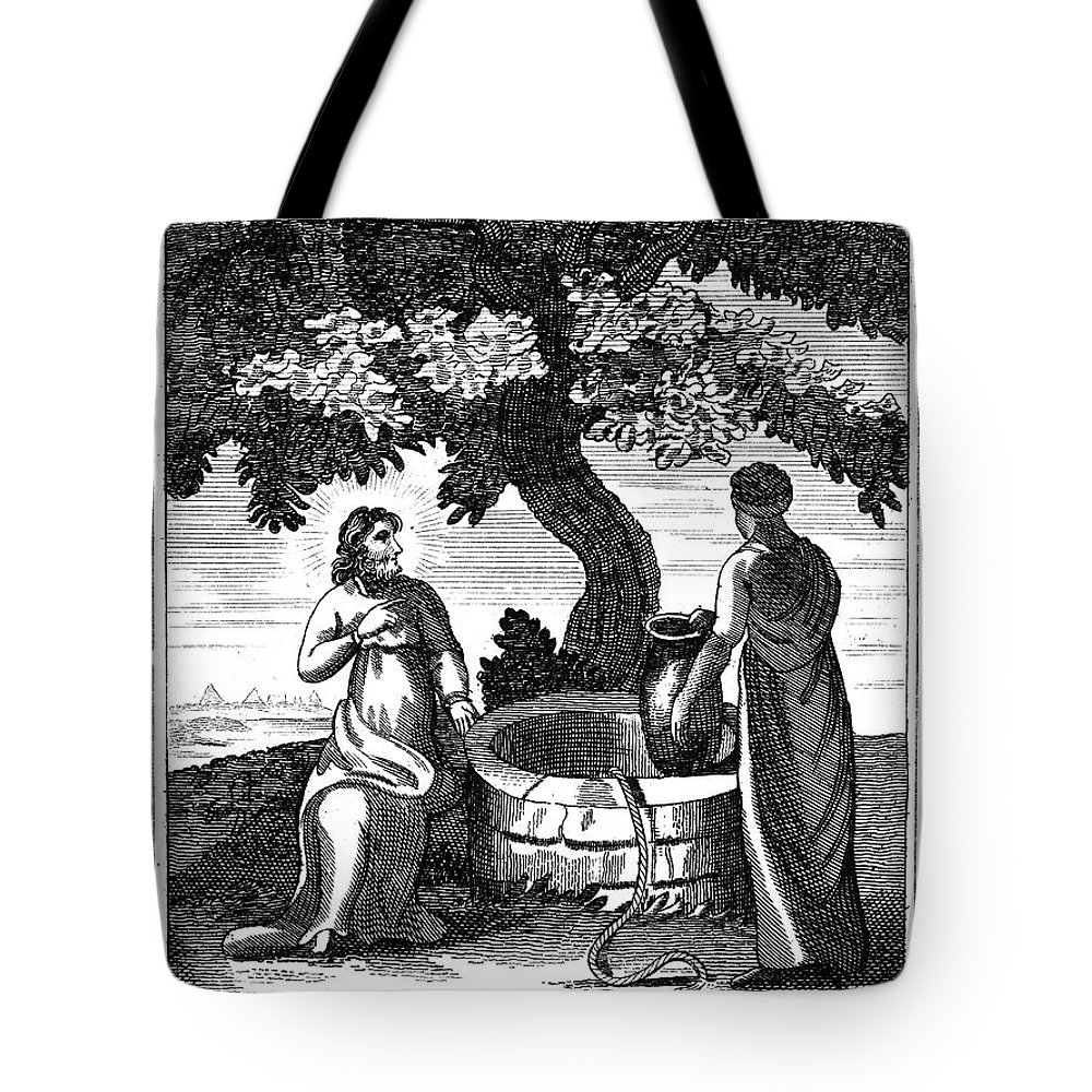 1800 Tote Bag featuring the photograph Christ & Woman Of Samaria by Granger