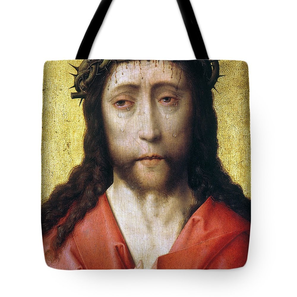 Bouts Tote Bag featuring the photograph Christ In Crown Of Thorns by Granger