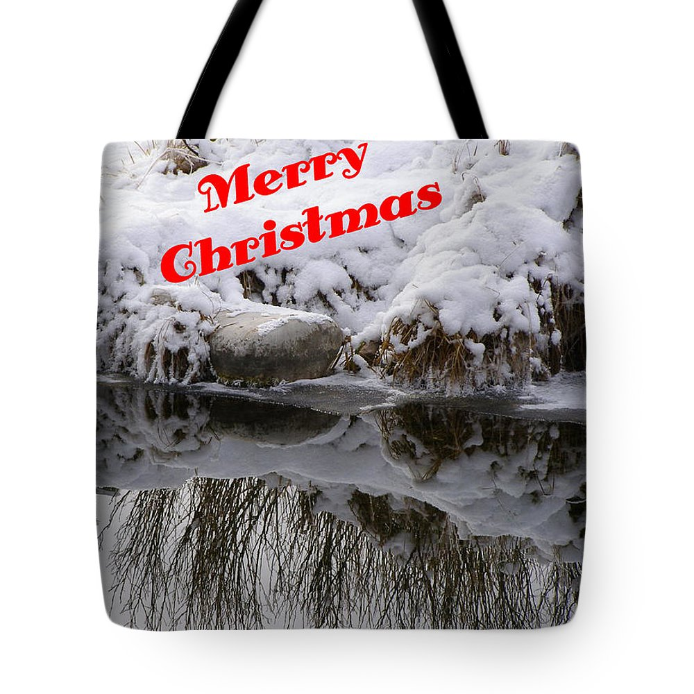 Christmas Cards Tote Bag featuring the photograph Christmas Along The Creek by DeeLon Merritt