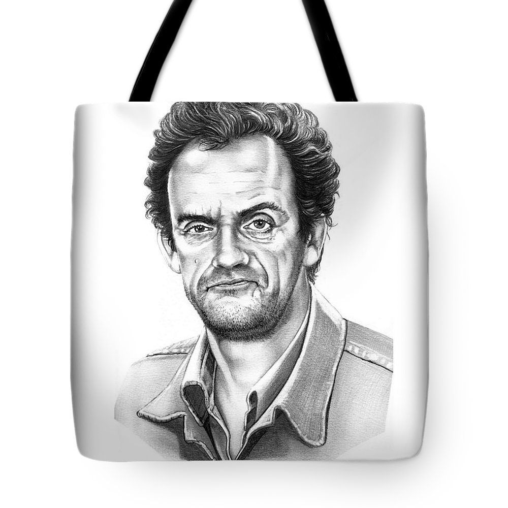 Pencil Tote Bag featuring the drawing Christopher Lloyd Taxi by Murphy Elliott