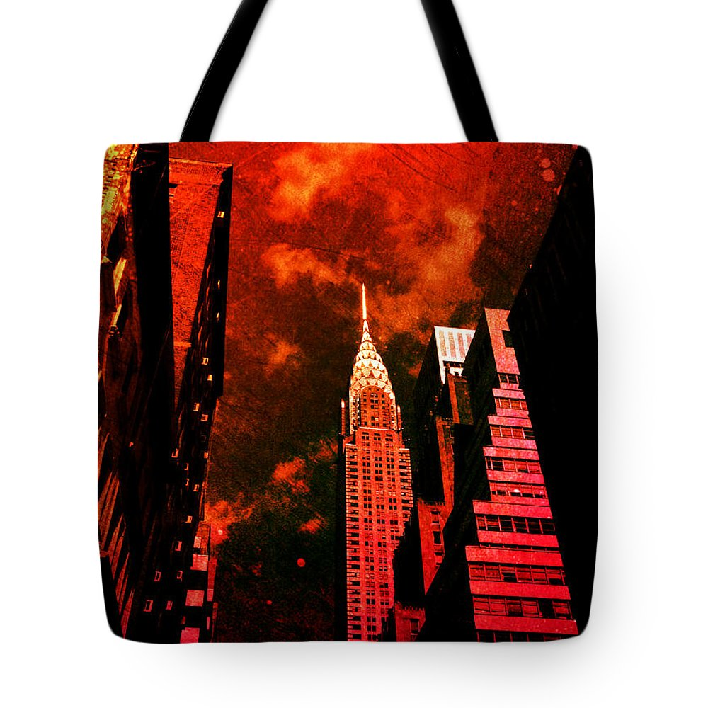 Surreal Tote Bag featuring the photograph Chrysler Building - New York City Surreal by Vivienne Gucwa