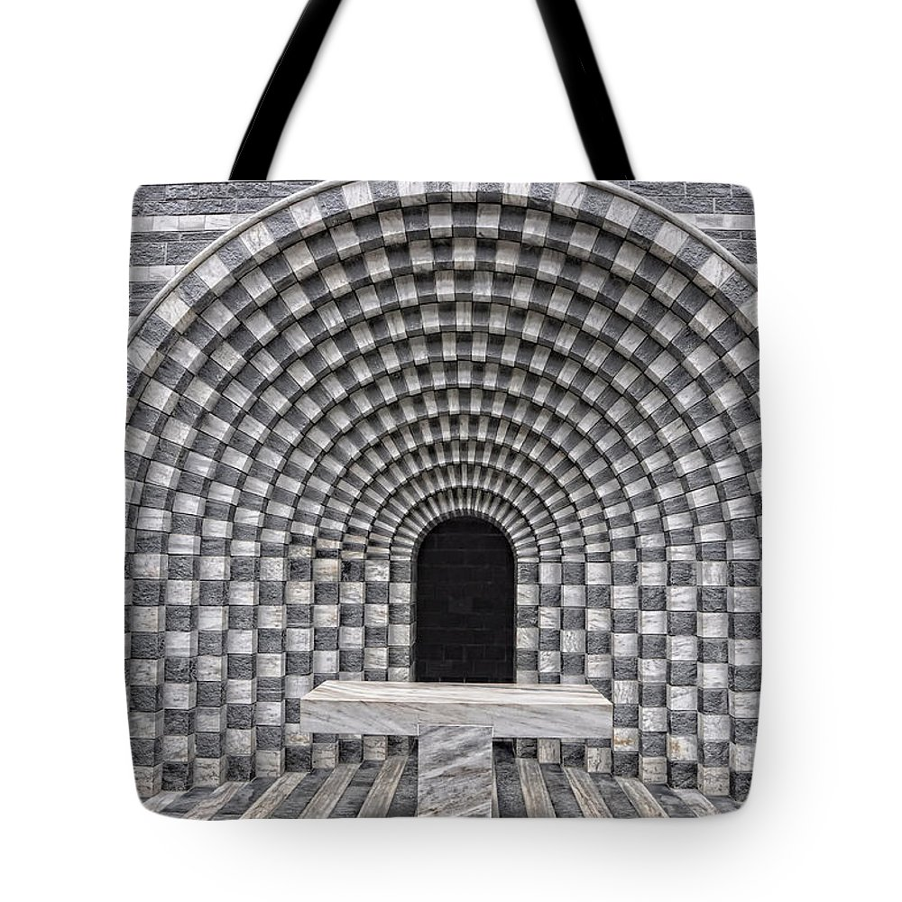 Chapel Tote Bag featuring the photograph Church Chapel Made In Stone by Mats Silvan