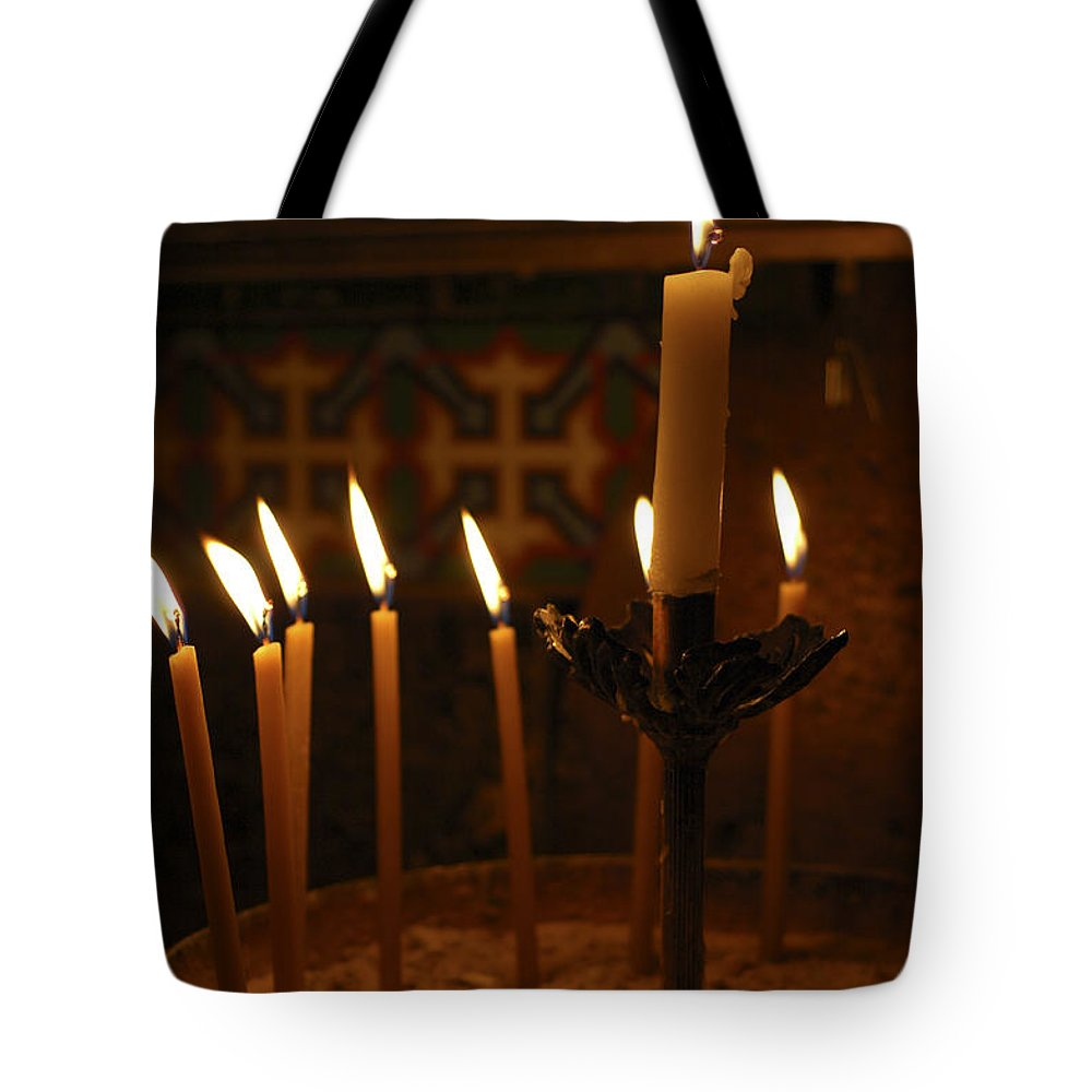 Psi Tote Bag featuring the photograph Church Of The Holy Sepulchre Jerusalem by Shay Levy