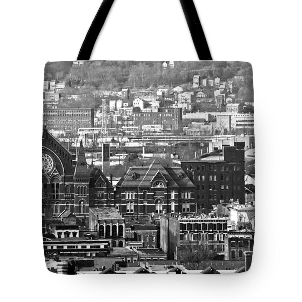 Music Hall Tote Bag featuring the photograph Cincinnati Music Hall Cincinnati Museum by Randall Branham