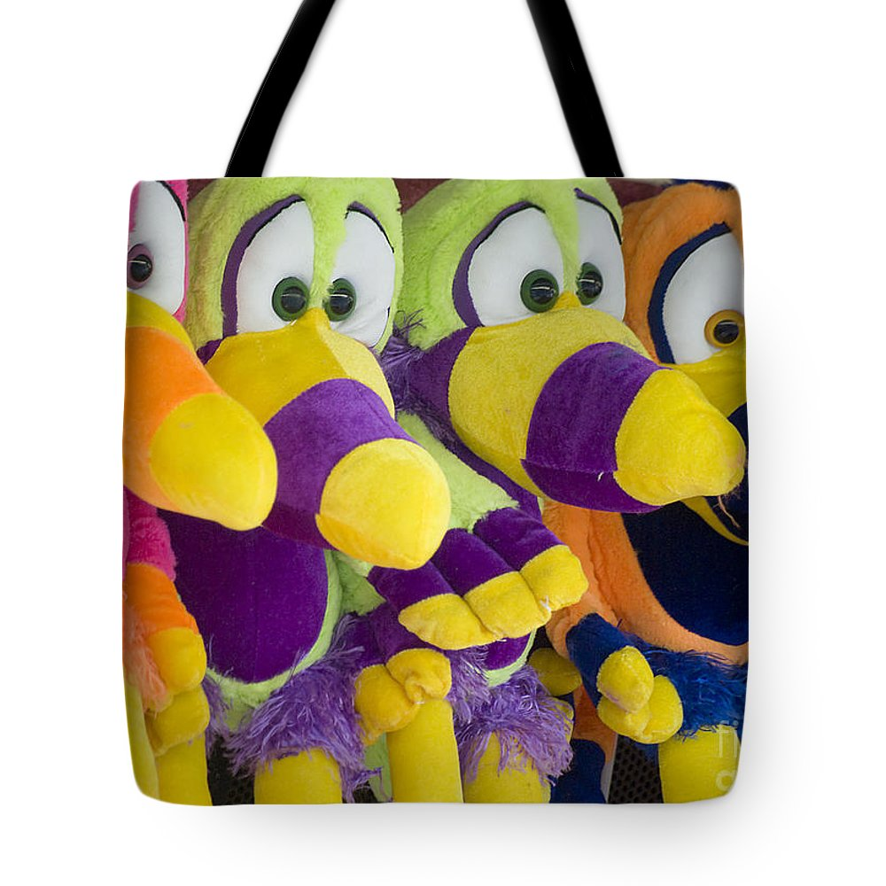 Stuffed Animal Tote Bag featuring the photograph Circus Animals by Jim And Emily Bush