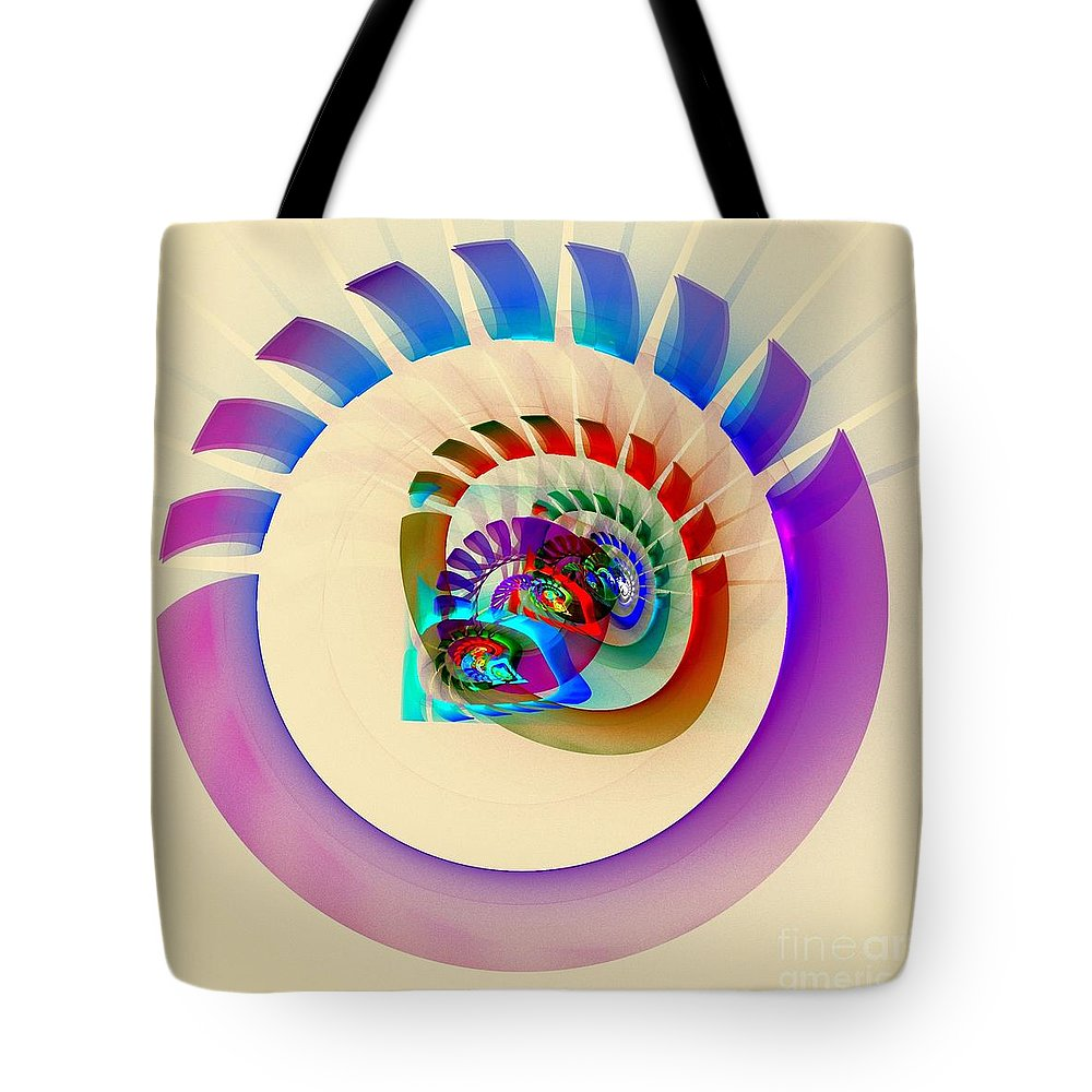Circus Tote Bag featuring the digital art Circus by Klara Acel