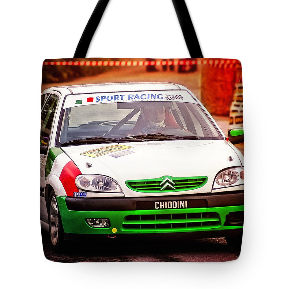 Car Tote Bag featuring the photograph Citroen by Alain De Maximy