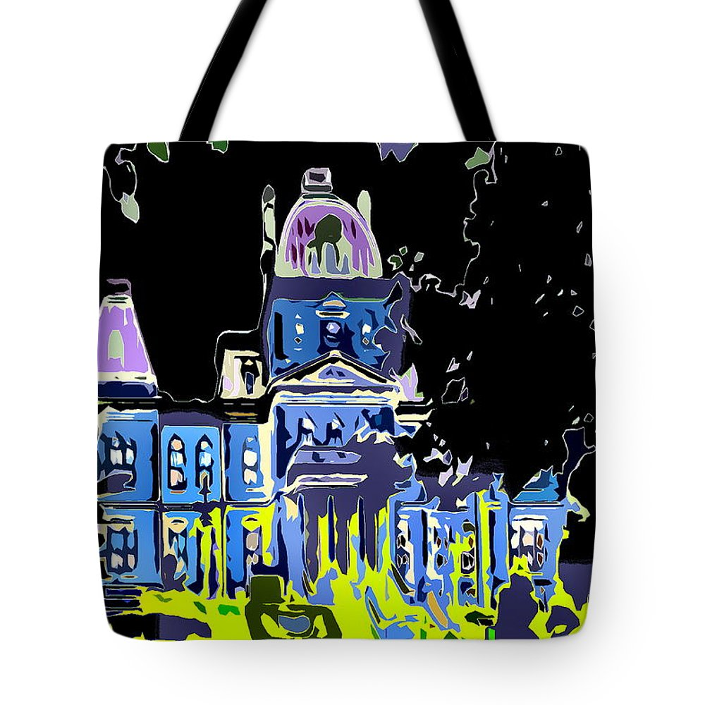 Government Building Tote Bag featuring the photograph City Hall by Burney Lieberman