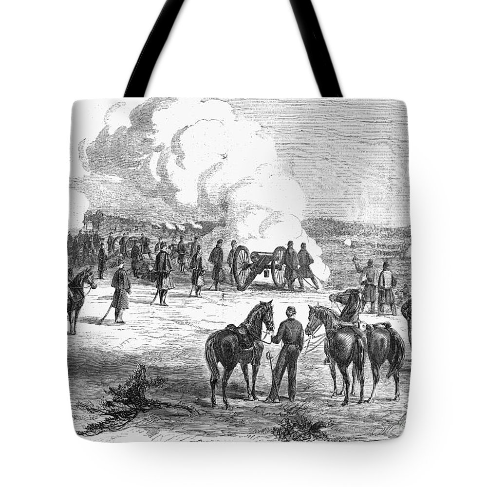 1862 Tote Bag featuring the photograph Civil War: 7 Days Battles by Granger