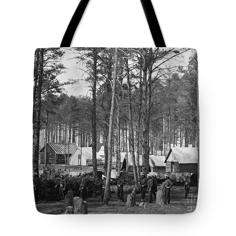 1864 Tote Bag featuring the photograph Civil War: Union Camp, 1864 by Granger