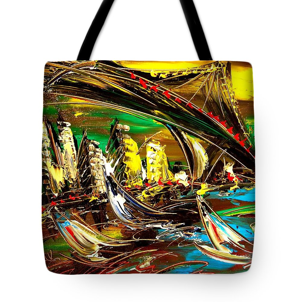 Nature Framed Prints Tote Bag featuring the painting Ciyy by Mark Kazav