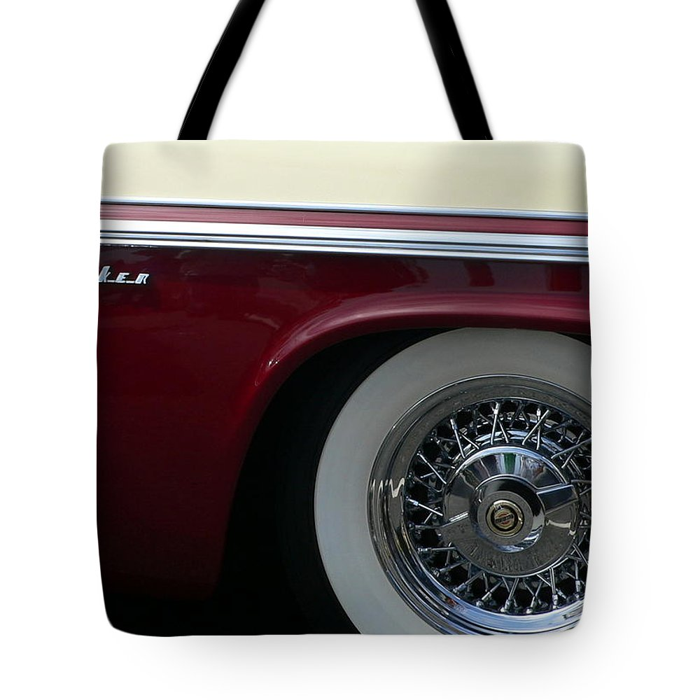 Chrysler New Yorker Tote Bag featuring the photograph Classic Chrysler New Yorker by Jeff Lowe