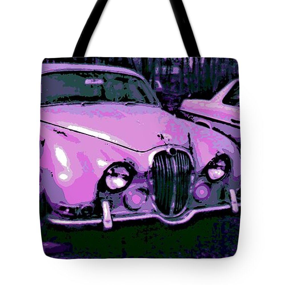 Jaguar Tote Bag featuring the photograph Classic In Pink by George Pedro