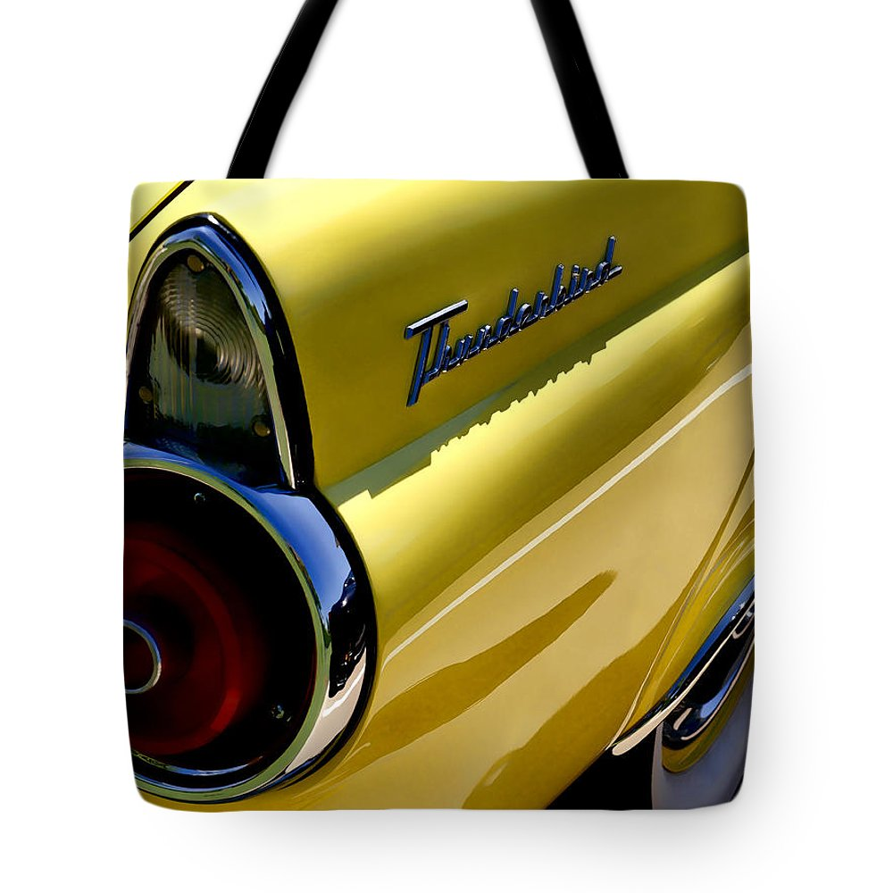 Classic Tote Bag featuring the digital art Classic T-bird Tailfin by Douglas Pittman