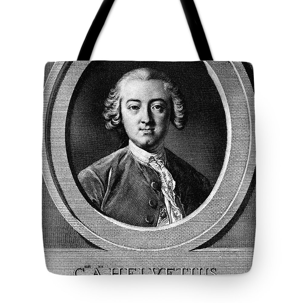 18th Century Tote Bag featuring the photograph Claude Adrien Helvetius by Granger