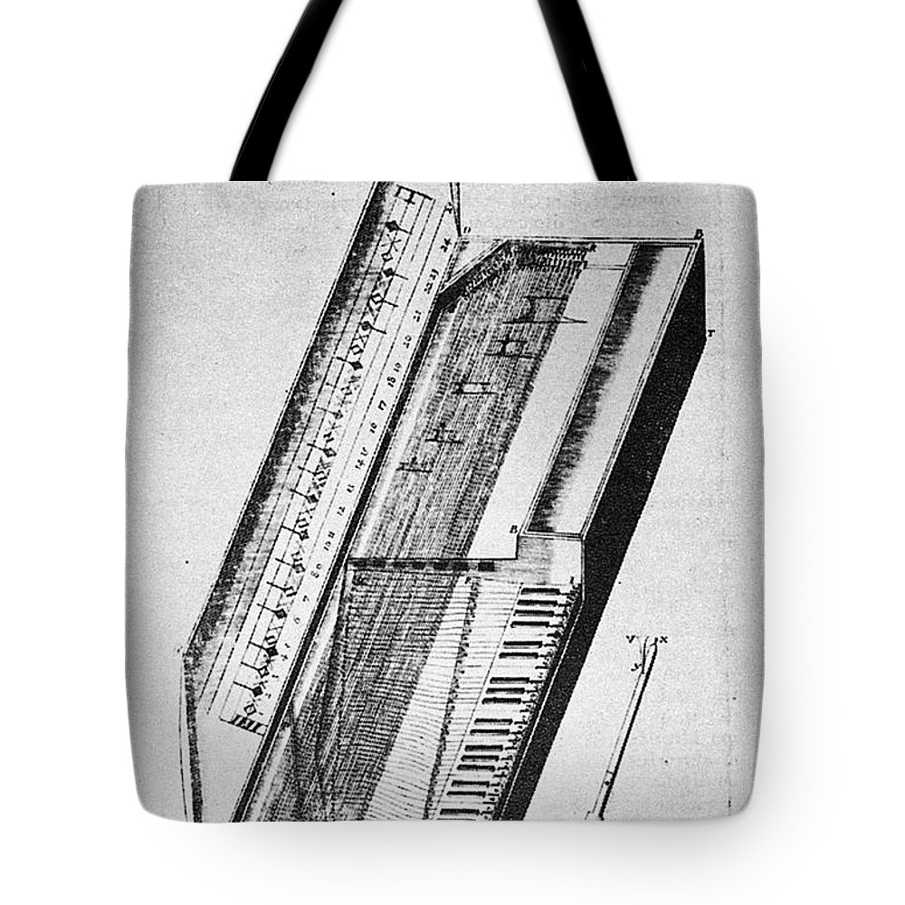 1636 Tote Bag featuring the photograph Clavichord, 1636 by Granger