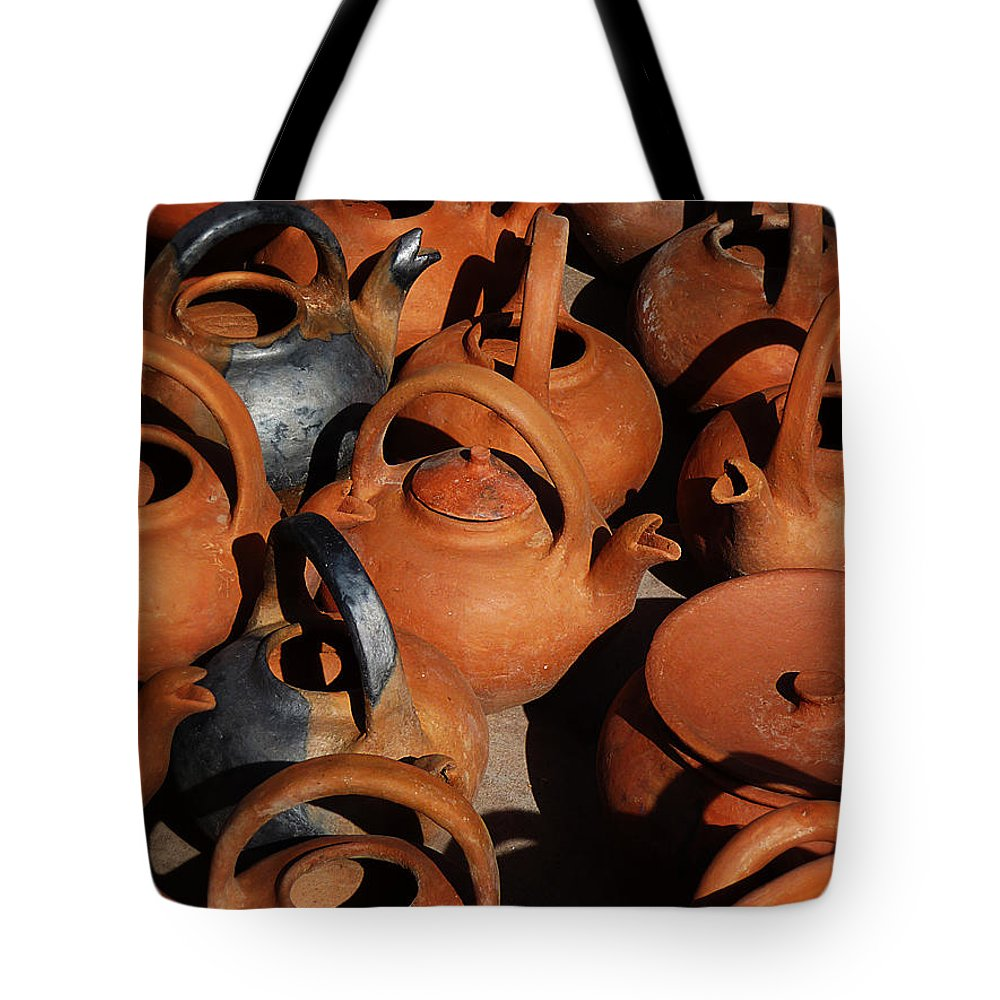 Still Life Tote Bag featuring the photograph Clay Factory In Argentina by Xueling Zou