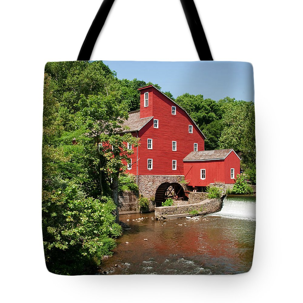 Clinton Mill Nj Tote Bag featuring the photograph Clinton Mill IIi by Regina Geoghan