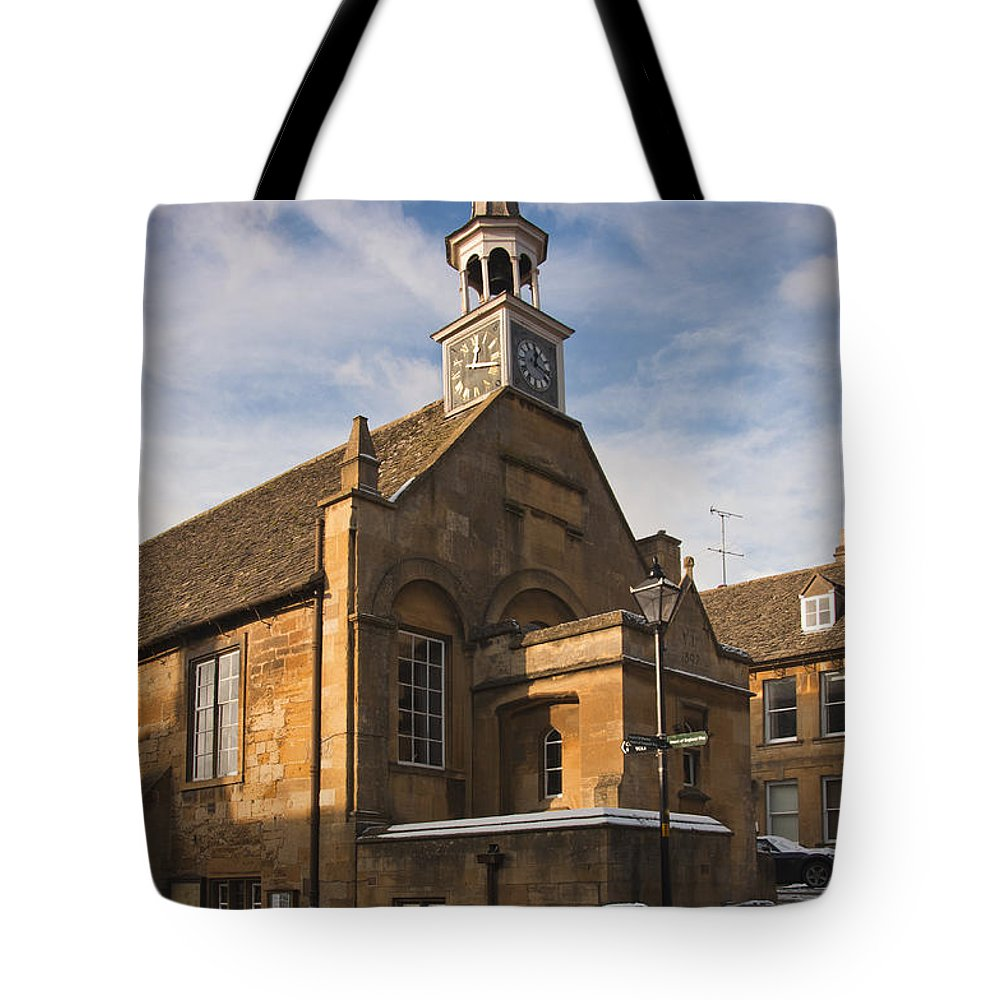 Britain Tote Bag featuring the photograph Clock Tower by Andrew Michael