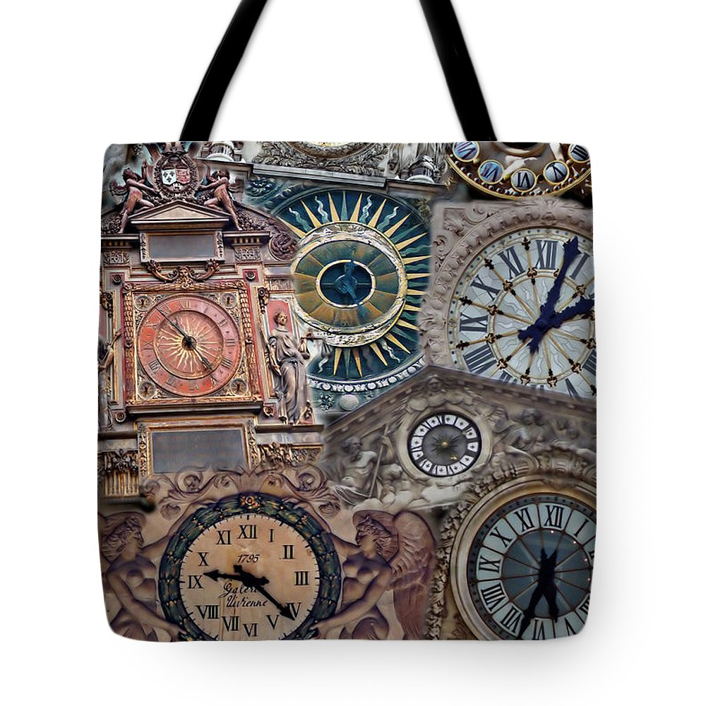 Paris Tote Bag featuring the photograph Clocks Of Paris by Andrew Fare