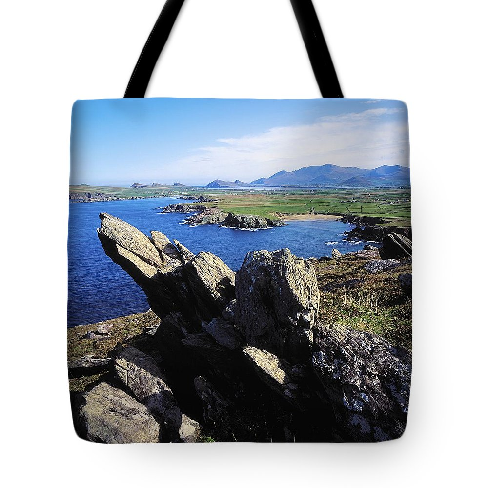 Co Kerry Tote Bag featuring the photograph Clogherhead, Co Kerry, Dingle by The Irish Image Collection