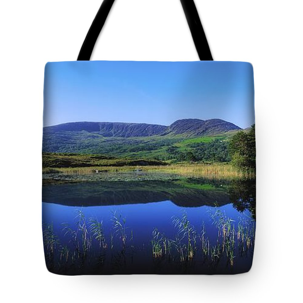Blue Sky Tote Bag featuring the photograph Clonee Loughs Co Kerry, Ireland Lake by The Irish Image Collection